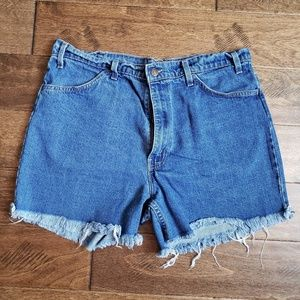 Levi's Distressed High Waisted Mom Jean Shorts